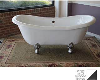 """product image for Duchess 68"""" x 30"""" Bathtub Color: Oil Rubbed Bronze"""