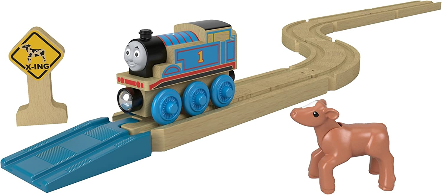 Thomas the Tank Engine Wood Straights /& Curves Track Pack Wooden Railway Train