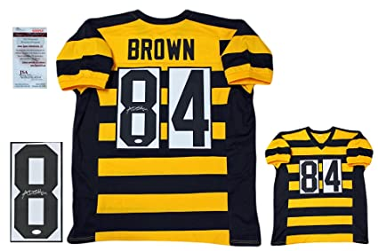 16d077b13d8 Image Unavailable. Image not available for. Color: Antonio Brown Signed  Custom Jersey - JSA Witness - Autographed - Bumblebee