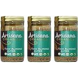 Artisana Organics - Almond Nut Butter, Single Ingredient Handmade Rich & Thick Spread, USDA & QAI Organic Certified, Non-GMO, Vegan & Gluten Free (3-Pack, 14 oz)