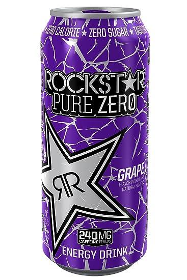 amazon com rockstar energy drink pure zero grape 24 count