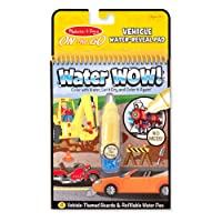 Melissa & Doug On the Go Water Wow! Water Reveal Pad: Vehicles - 4 Boards and Water Pen