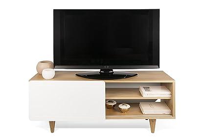 TemaHome Nyla Mobile Porta TV, Legno, Rovere/Bianco, 120x34x50 cm ...