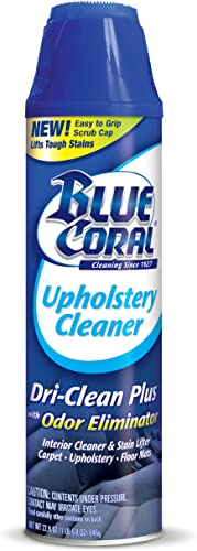 Blue Coral DC22 Upholstery Cleaner Dri-Clean Plus with Odor Eliminator, 22.8 oz.