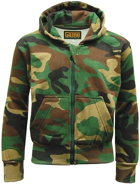 GAME Chándal de forro polar, diseño de camuflaje militar, sudadera con capucha y pantalones tipo jogger verde verde Talla única: Amazon.es: Ropa y ...