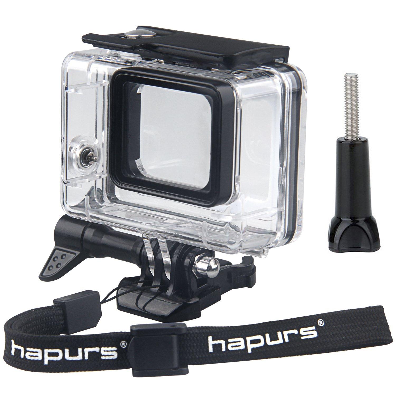 Hapursダイビング防水ハウジング保護ケースカバーfor GoPro 4 Hero Sessionスポーツカメラアクセサリー HPGPR146  Waterproof Case for Gopro 5 Black(Black) B01N2O76GS