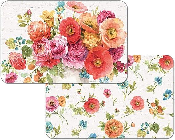 Tea Party CounterArt 4 Reversible Washable Plastic Placemats