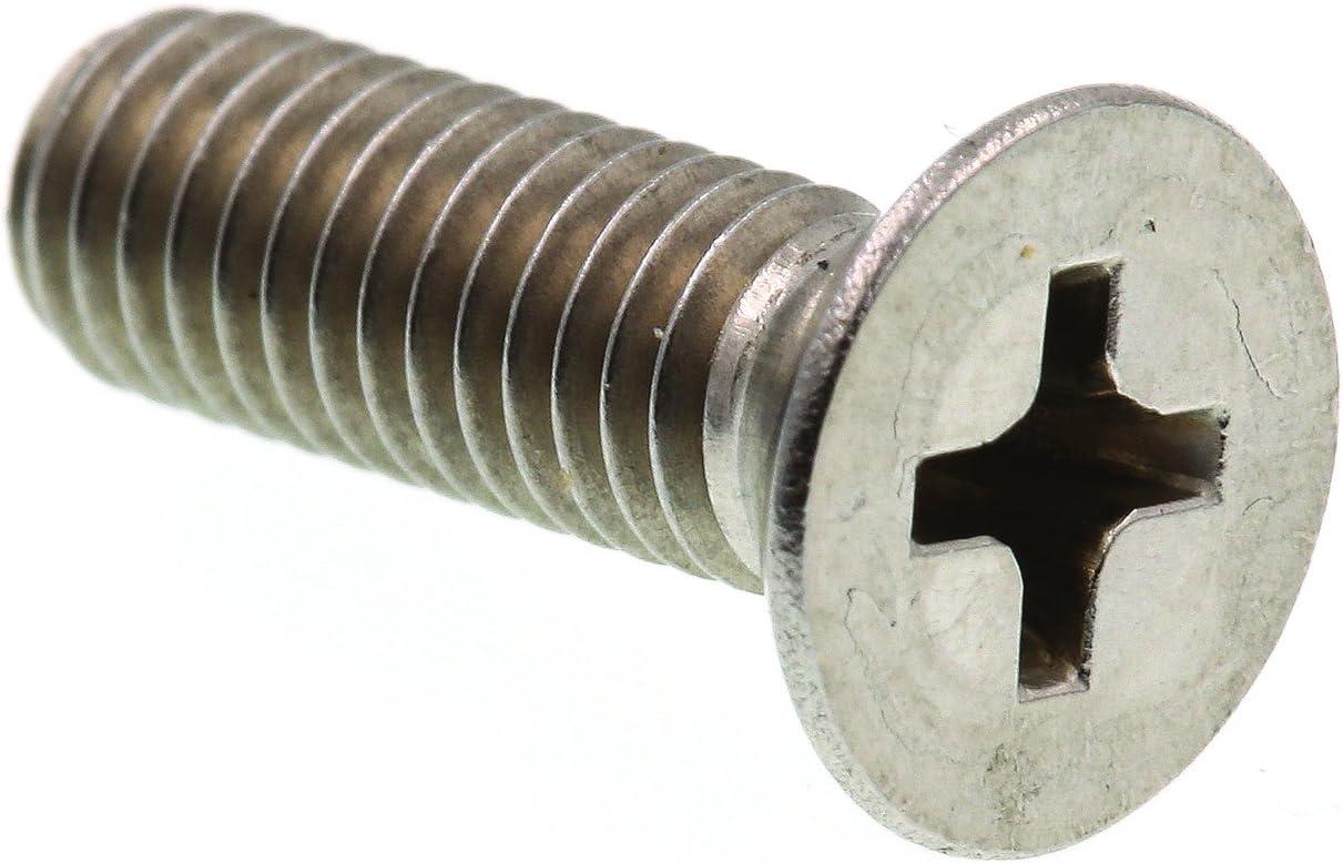 Grade 18-8 Stainless Steel Prime-Line 9001227 Machine Screws 25-Pack #10-24 X 3//8 in Flat Head Phillips Drive