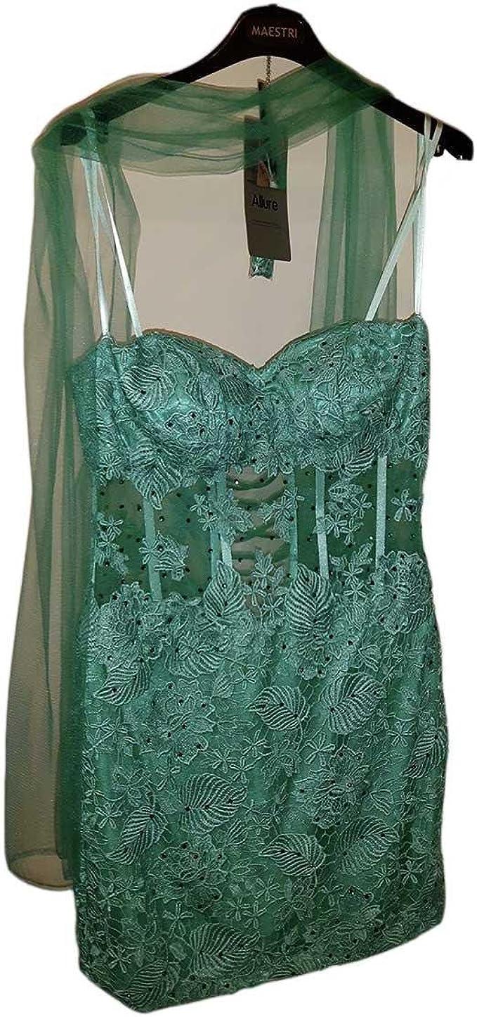 Abiti Da Cerimonia Taglia 44.Sonia Pena Abito Vestito Decolte Donna Verde Tiffany Taglia 44 Da