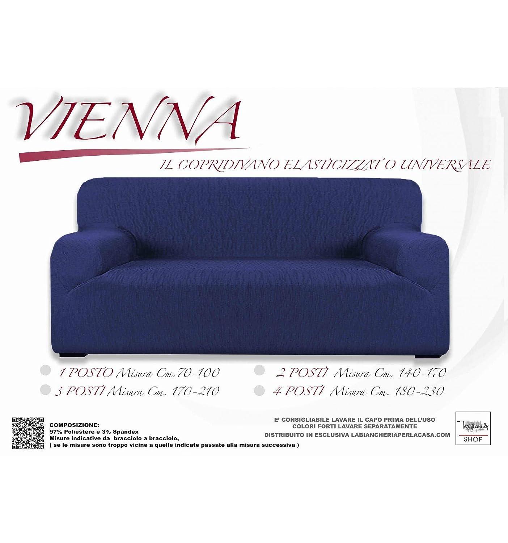 Funda de Sofá elástico Vienna Universal Azul - 3 plazas CM ...