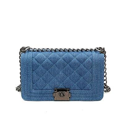 Amazon.com  Brand Denim Bag Female Luxury Handbags Women Bags Designer  Small Chain Shoulder Crossbody Bags For Women Messenger Bag Light Blue   Shoes