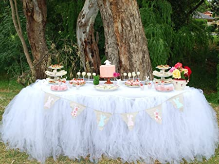 Jupe de Table Tulle de Table Linge de Table pour F/ête de Naissance Mariage dor/é