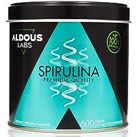 Espirulina Ecológica Premium para 18 Meses | 600 comprimidos de 500mg con 99% BIO Spirulina | Vegano - Saciante - DETOX…