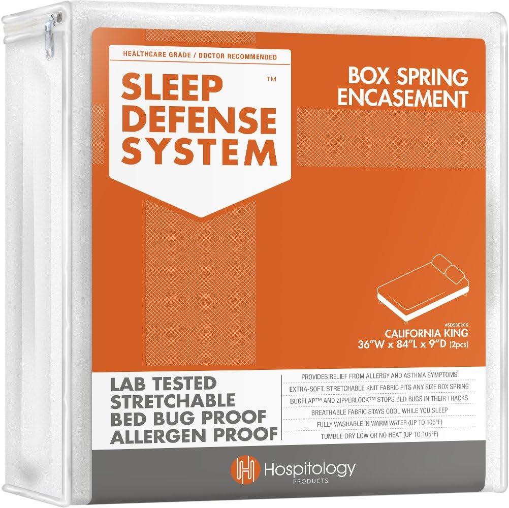The Original Sleep sistema de defensa – Funda para colchón con cremallera ya prueba de ácaros, de insectos. Forro de somier y protector ...
