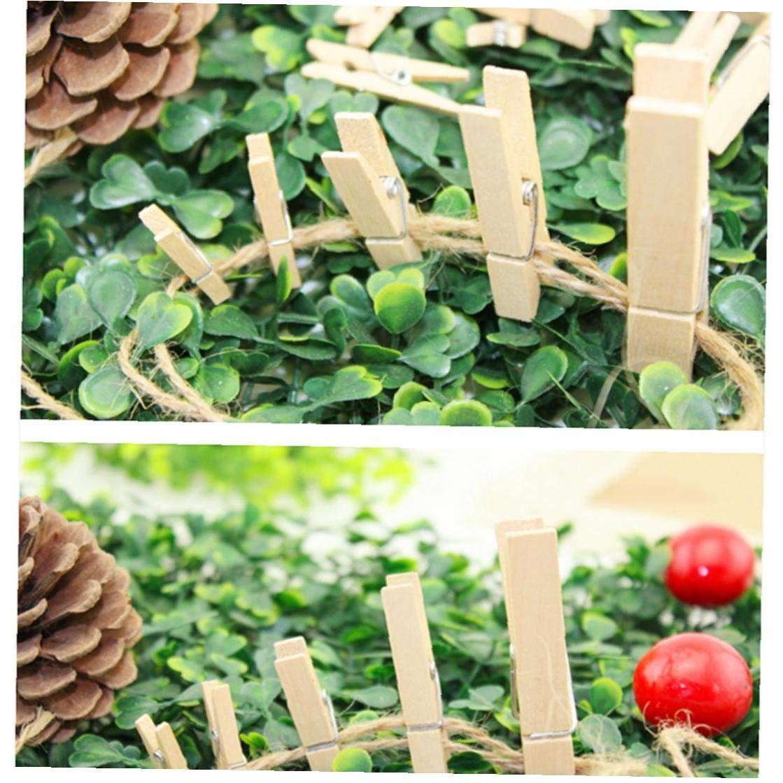 100Pcs Mini Mollette Naturali Clip Di Legno Durevole Piccolo Bucato Carta Fotografica Pegs Hanging Clip Di Pin Craft Per La Carta Fotografica Display Hanging