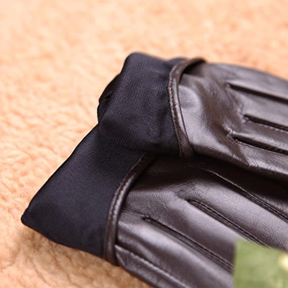 90077479b WARMEN Punk Rock Women Genuine Soft Leather Driving Performance Gloves With  Rivet at Amazon Women's Clothing store: Cold Weather Gloves