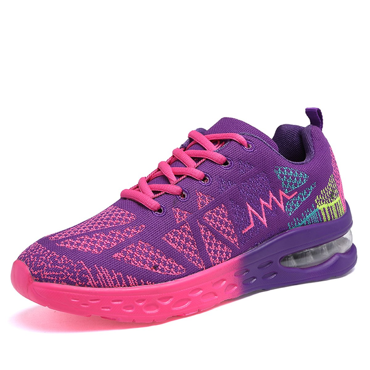 JARLIF Women's Athletic Running Sneakers Fashion Sport Air Fitness Workout Gym Jogging Walking Shoes US5.5-10 B0716RRNCY 8 B(M) US|Purple