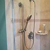 Amazon.com: Brillante duchas – Barra deslizante de acero ...