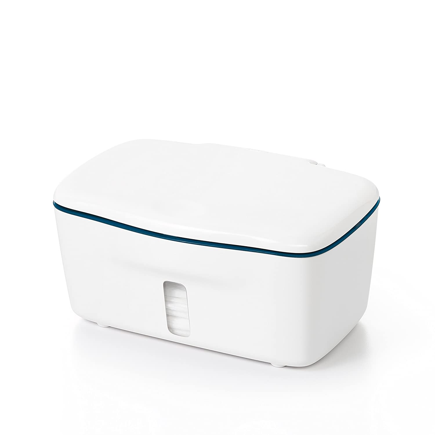 Navy OXO Tot Perfect Pull Wipes Dispenser