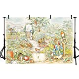 VV Photography Backdrop 7x5ft Peter Rabbit Backdrop for Kids Birthday Party Cartoon Children Photography Background Cloth Customized.