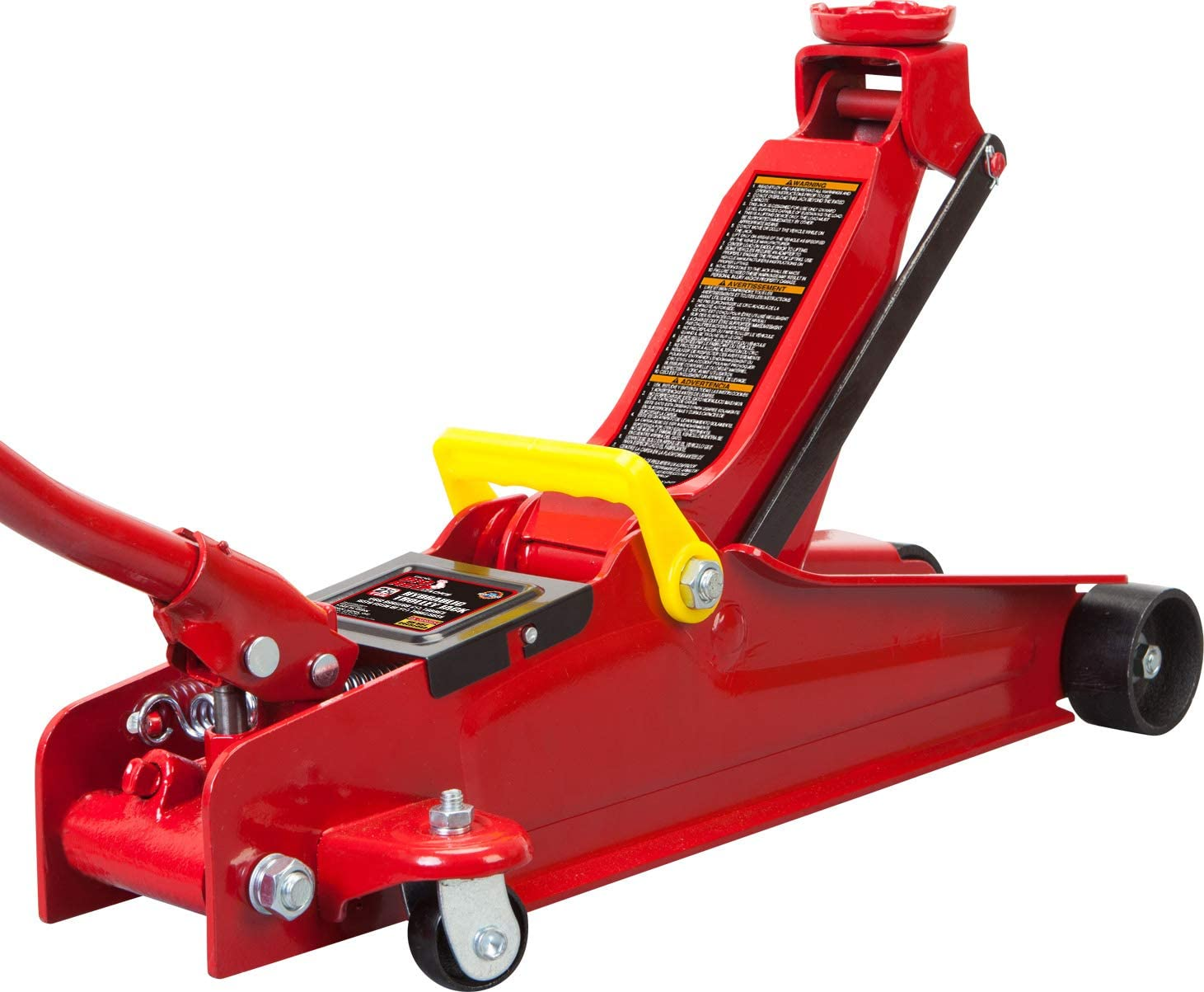 Red 2.5 Ton BIG RED T825051 Torin Hydraulic Low Profile Trolley Service//Floor Jack with Dual Piston Quick Lift Pump 5,000 lb Capacity