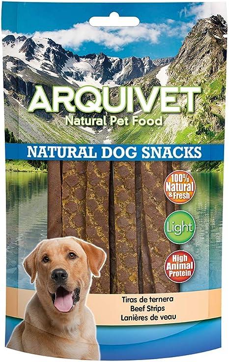 Arquivet Tiras de ternera - Snacks naturales para perro - Golosinas para perro - Chuches para perro - Premios y recompensas para perro - Snacks ...