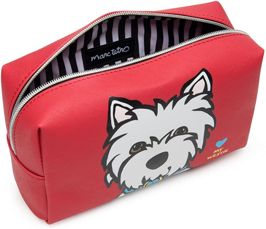 Westie Marc Tetro Cosmetic Bag: Amazon.co.uk: Shoes & Bags