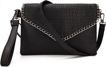 JIARUO Chain Design Cover Flap Small Women PU leather Crossbody bag Purses  Double Main Pocket Handbag 4c0304724370d