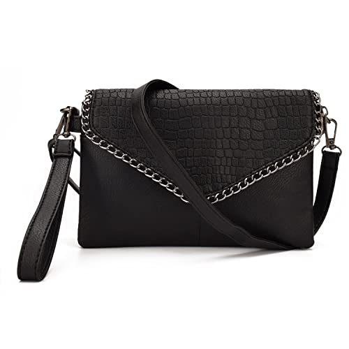 c45936b4322 JIARUO Chain Small Leather Crossbody bag Purses For Women Envelope ...