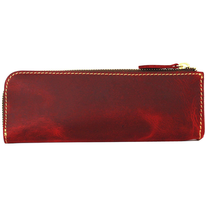 Amazon.com: LXFF Bolso de piel auténtica con cremallera para ...