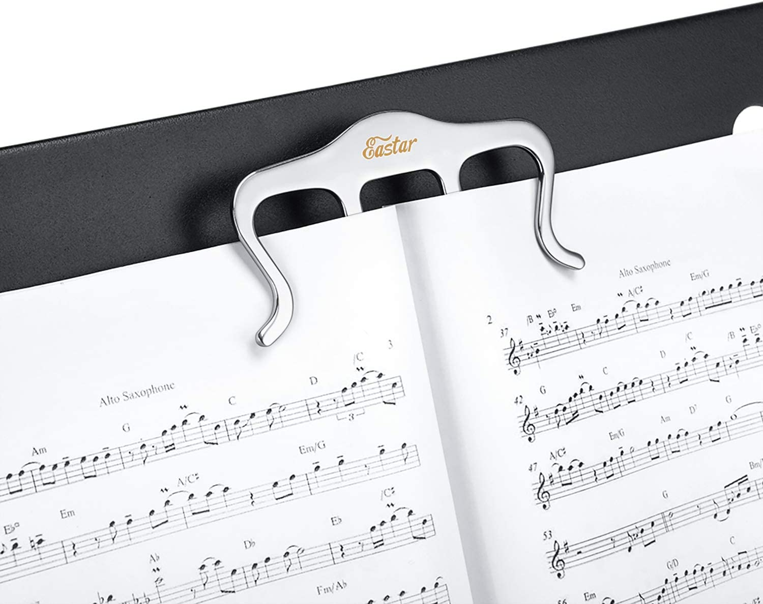 Keyboard Eastar Metal Music Book Clip Book Holder Markers for Piano Books Bookmark 1 Pack Page Holder Stands Metal Sheet Music Holder