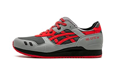 buy popular fb5a5 f9aee Amazon.com | ASICS Gel Lyte III - Size 13 Gray/Red | Basketball
