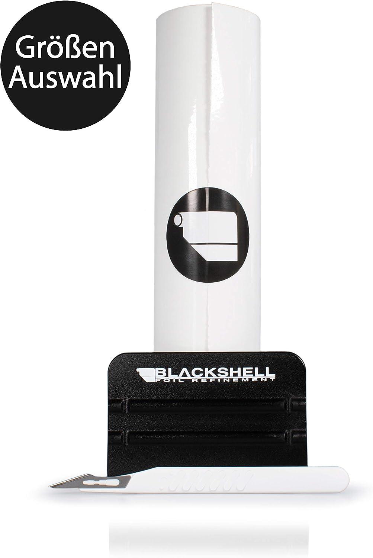 Blackshell Universal Lackschutzfolie 25cm X 250cm Transparent Selbstklebende Folie Schutzfolie Für Ihr Auto Motorrad Fahrrad Inkl Premium Rakel Und Skalpell Auto