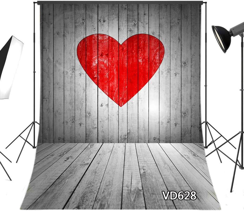 4X3FT-Valentines day Love Decoration Photography Backdrops Wood Photo studio background