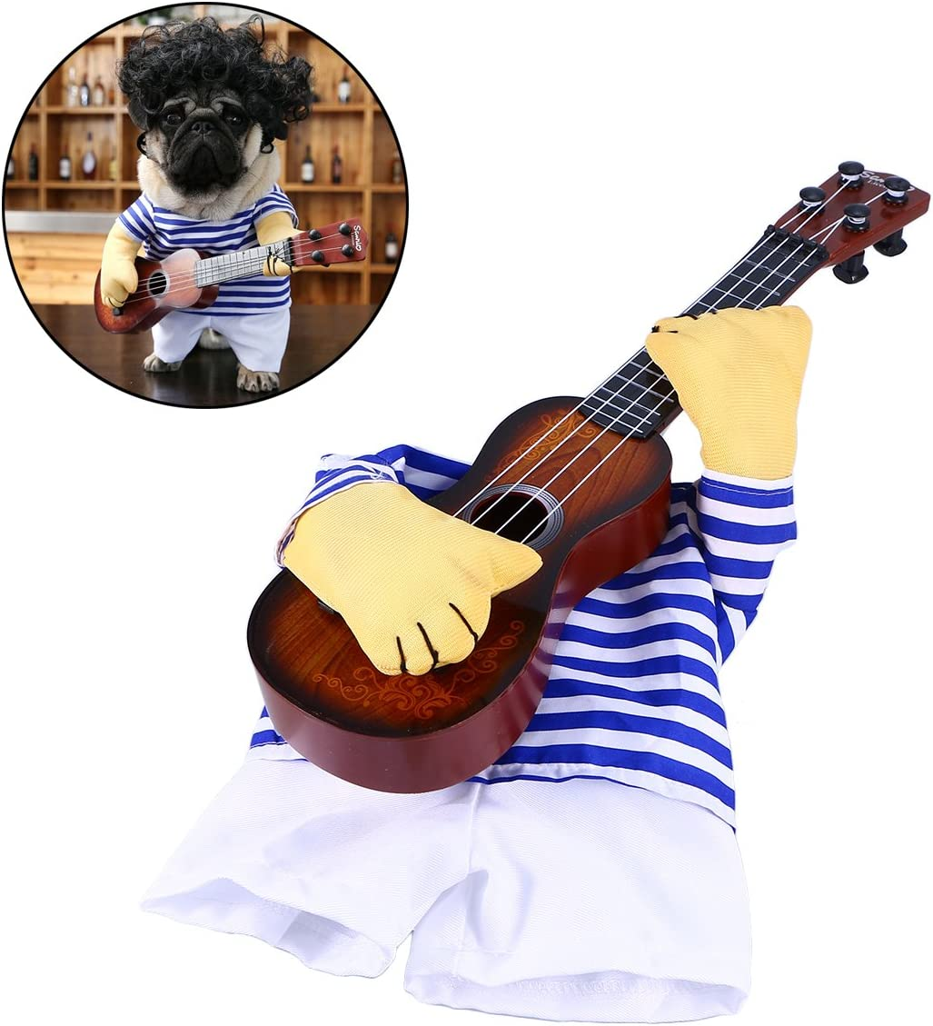 Disfraz para perros Guitarrista UEETEK
