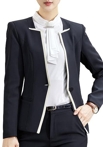 Amazon.com: foucome Mujer Formal Carrera Blazer oficina de ...