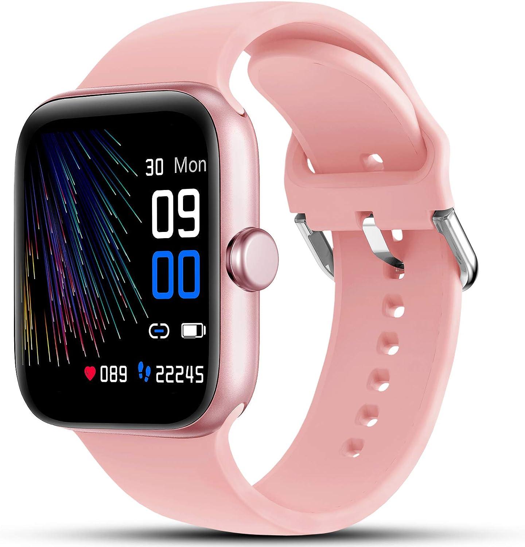 Lifebee Smartwatch Fitness Armband Ip68 Wasserdicht Fitnessuhr Sportuhr Schrittzähler Schlafmonitor Anruf Sms Beachten Armbanduhr Damen Herren