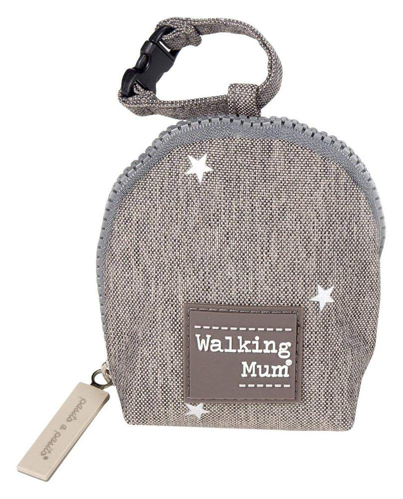 Walking Mum Gaby - Funda para chupete, color gris