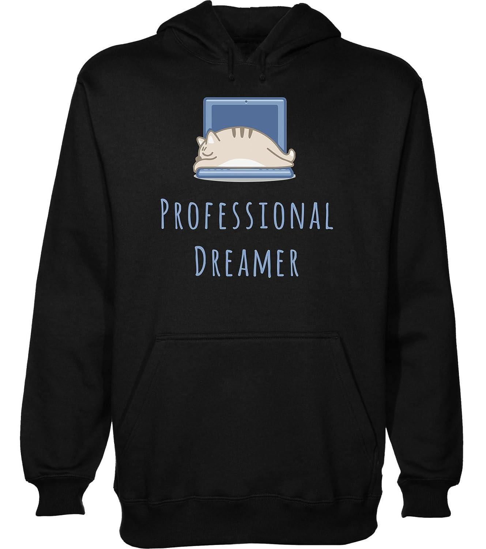 Sleeping The Men's Professional Hoodie On Laptop DreamerCat HYD9eWEI2