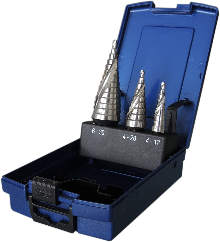 HSS-CO5/% Blechschälbohrer Konusbohrer Kegelbohrer HSSE Profi Qualität 3-60 mm