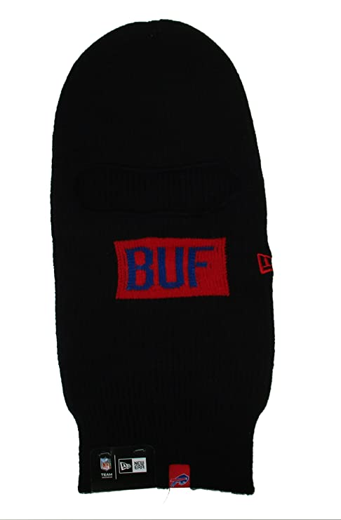 8f83e0b10af Image Unavailable. Image not available for. Color  Buffalo Bills New Era  Cuffless Knit Face Warmer Beanie ...