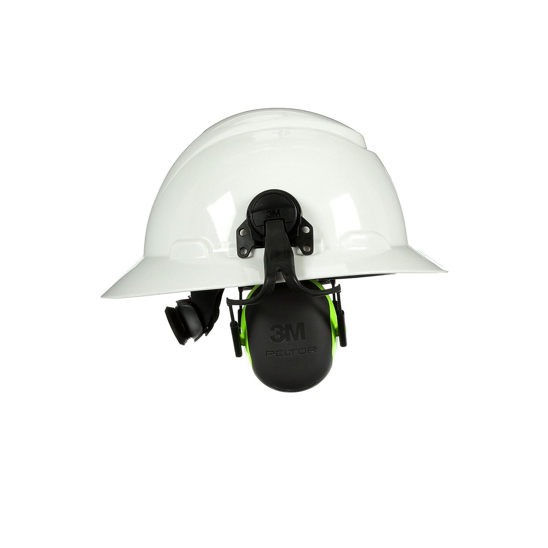 3M PELTOR X4 Earmuffs X4P51E, Hard Hat Attached, 10 EA/Case