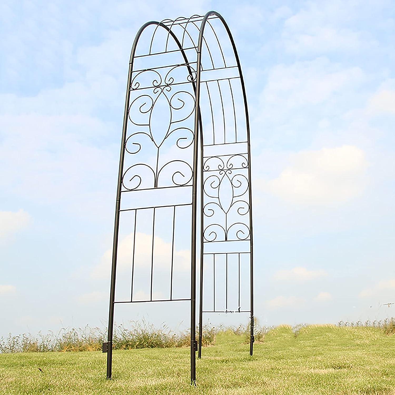 LJHSS Metal Garden Arch,Garden Arches and arbors Metal Arch Trellis Outdoor Floral Decor for Various Climbing Plant Roses Vines