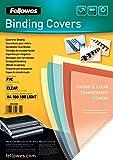 Fellowes 5375901 Copertine per Rilegatrice in PVC Trasparente, Formato A4, 180 Micron, Confezione da 100 Pezzi