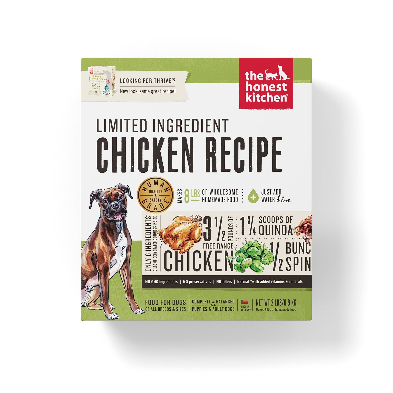 Honest kitchen the limited ingredient chicken dog food recipe 2 lb honest kitchen the limited ingredient chicken dog food recipe 2 lb box thrive forumfinder Image collections