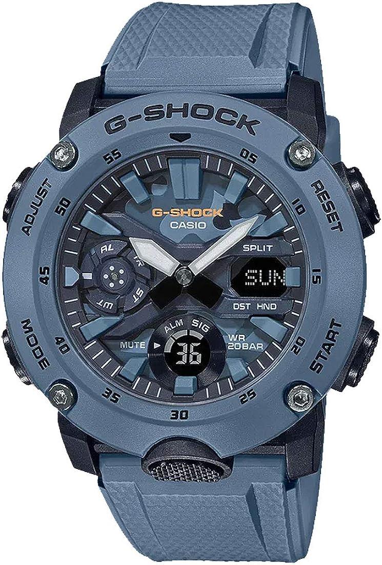 Casio G-Shock Men's GA2000SU-2A Analog-Digital Watch Blue
