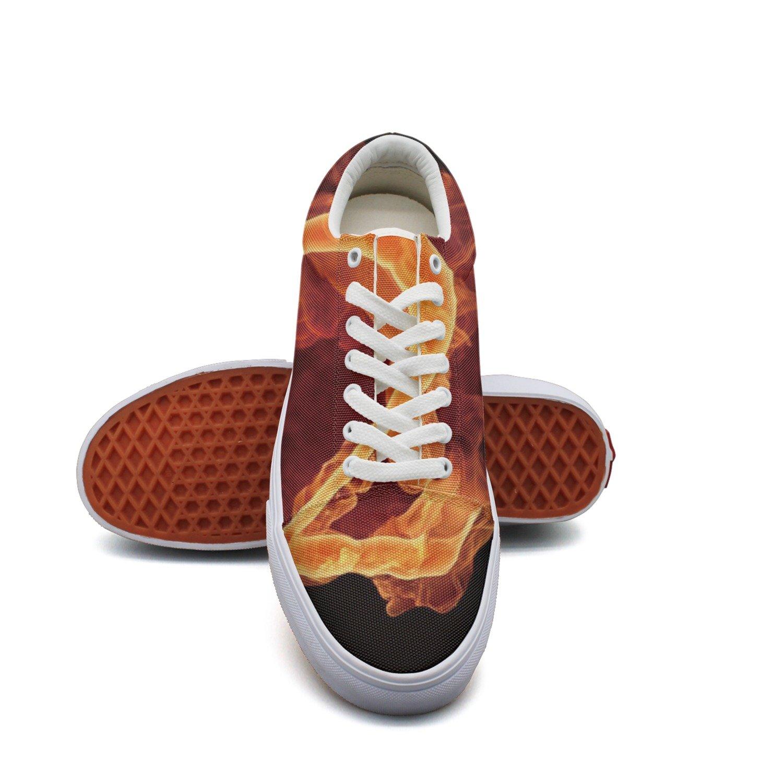 Ouxioaz Womens Classic Shoes Fire Flames Skate Shoe