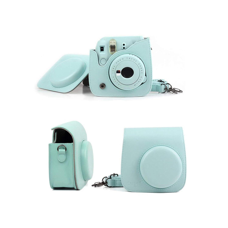 ミニカメラケースバッグ PUレザーカバー ショルダーストラップ付き Instax Mini 9 Mini 8 Mini 8+インスタントフィルムカメラ用 B07R2HTPDV