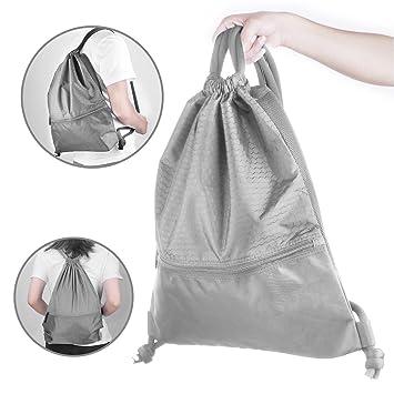 Polysky Bolsa de Gimnasia de Cuerdas Lazo Mochila Backpack Gym Sack  Drawstring Bag Saco Deporte Bolso 546aacb38f2f8