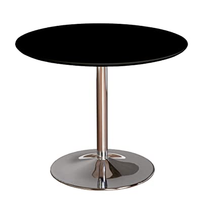TMS 89017BLK PISA Modern Retro Round Dining Table 35 4 W Black